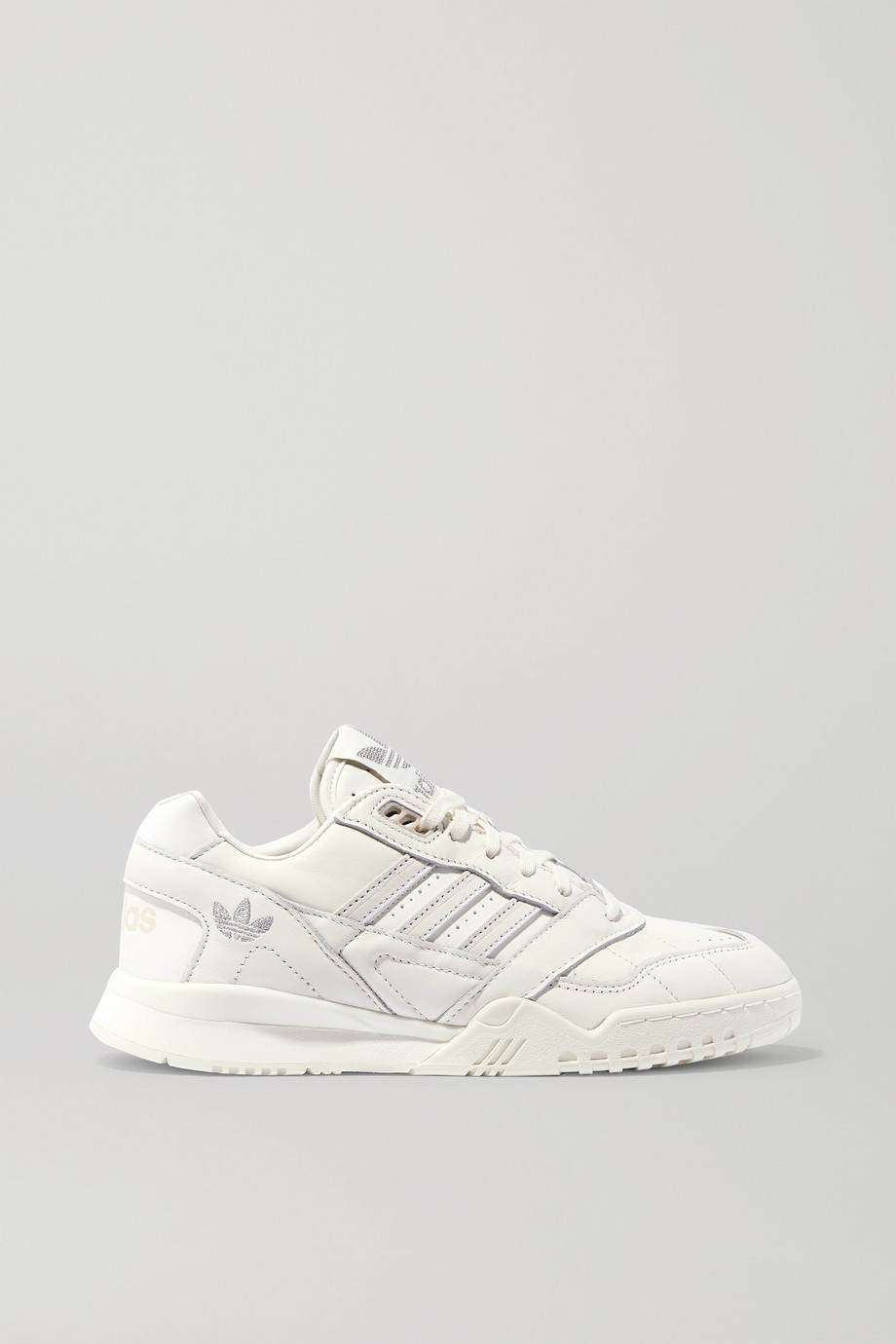 adidas Originals A.R. Trainer suede-trimmed leather sneakers
