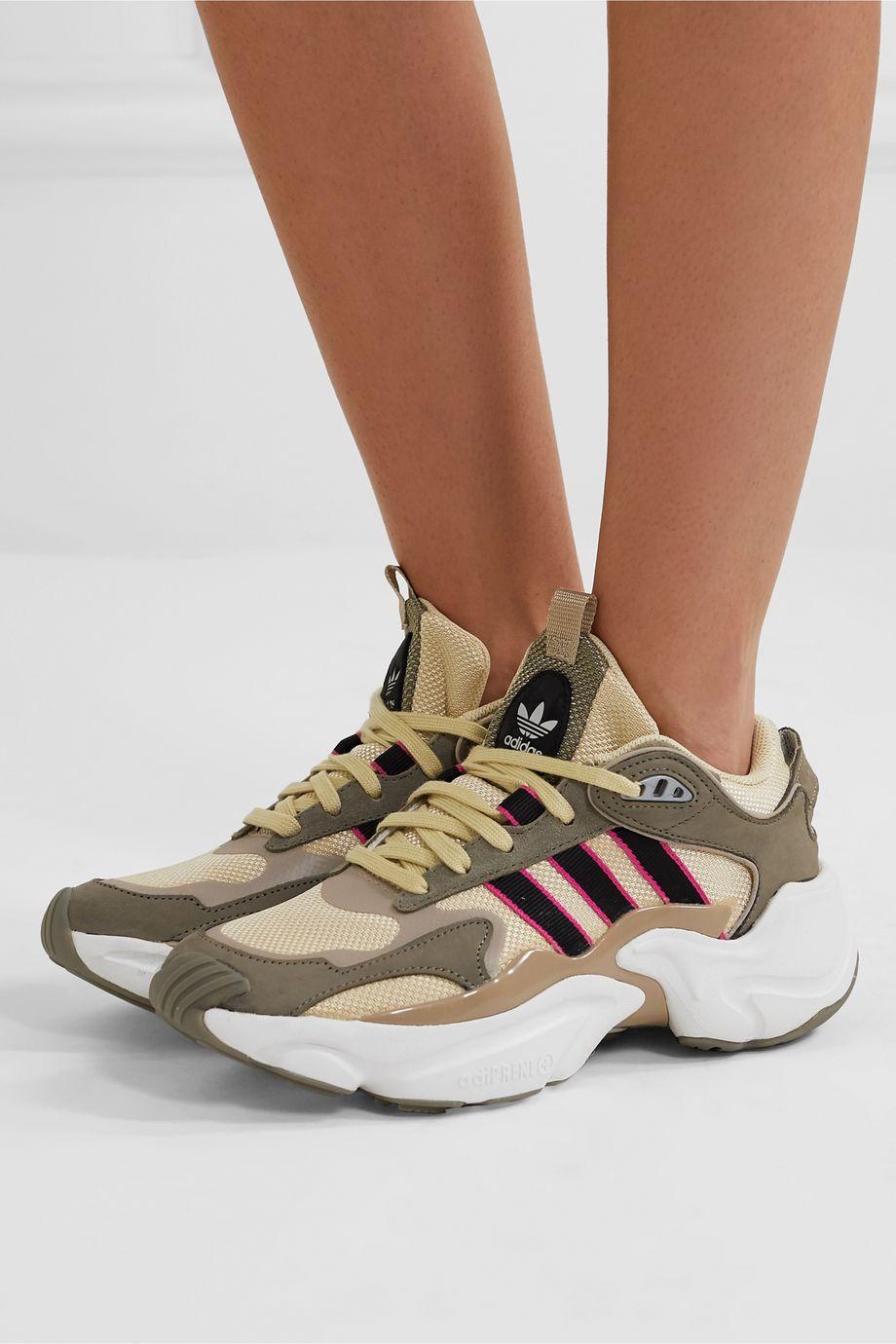 adidas Originals Magmur Runner Sneakers aus Mesh, Veloursleder und Leder