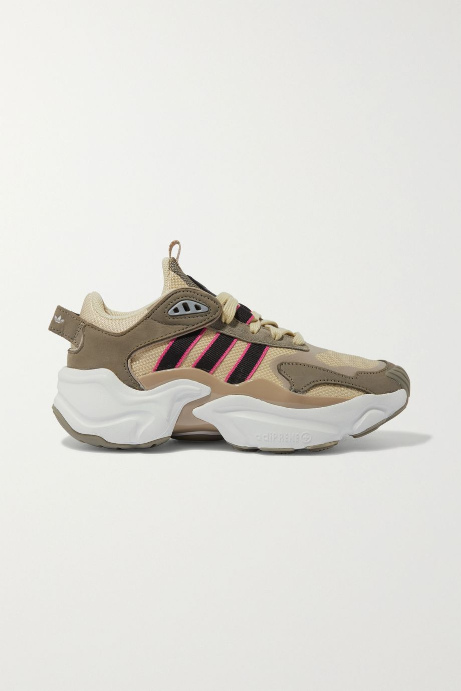adidas Originals Magmur Runner mesh, suede and leather sneakers