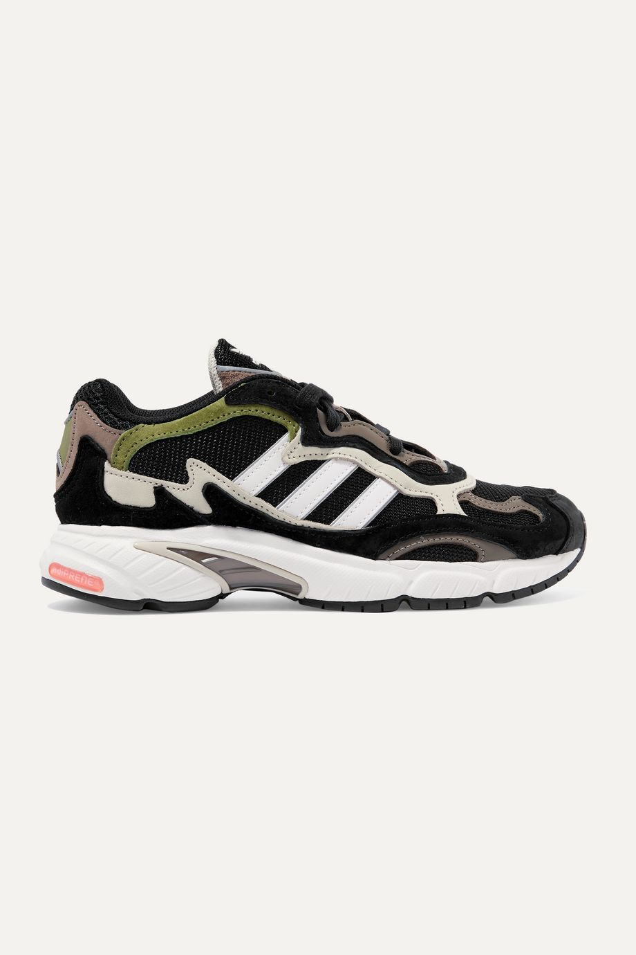 adidas Originals Temper Run mesh, suede and leather sneakers