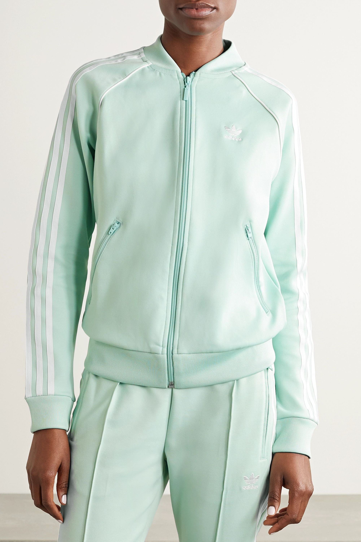 adidas Originals Superstar striped tech-jersey track jacket