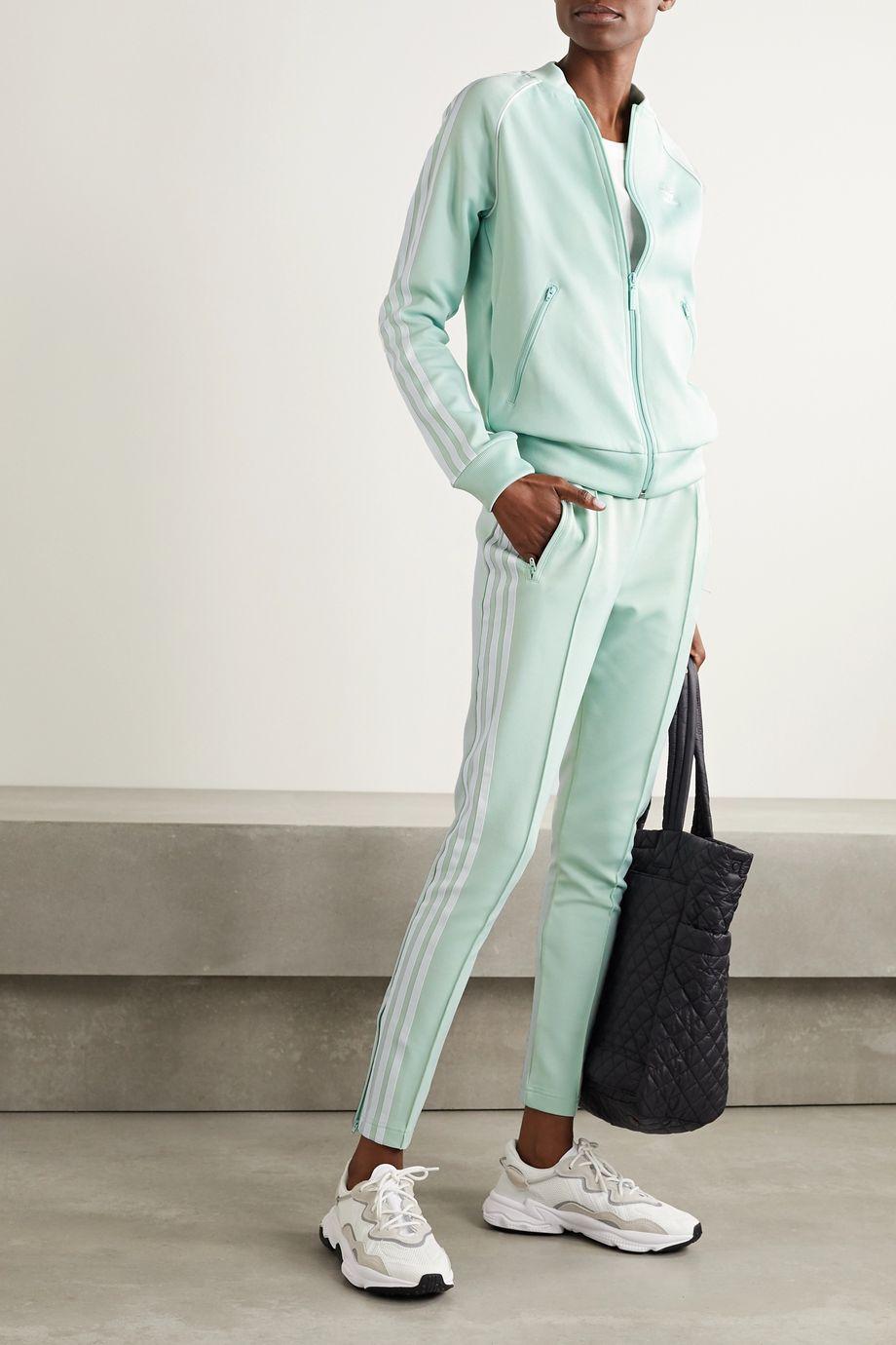 adidas Originals Superstar striped tech-jersey track pants