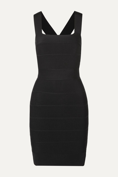 Herve Leger Cutout Bandage Mini Dress In Black