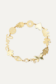 Pure mini 14-karat gold bracelet