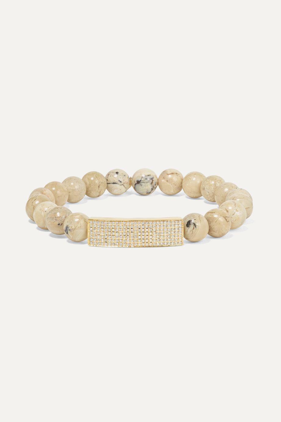 Sydney Evan Bracelet en or 14 carats, opale africaine et diamants