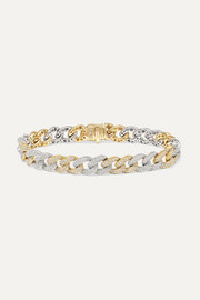 14-karat white and yellow gold diamond bracelet