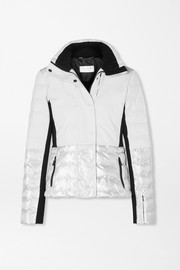 Sari metallic quilted ski jacket