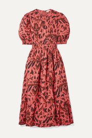 Ulla Johnson Indah printed cotton-poplin midi dress