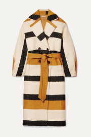 Ulla Johnson Lawson double-breasted striped woven coat