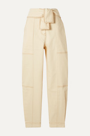 Ulla Johnson Storm belted paneled high-rise tapered jeans
