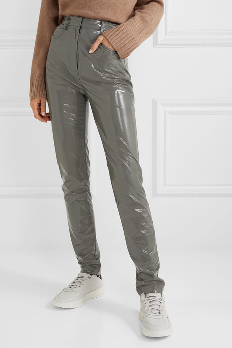 Tech vinyl skinny pants
