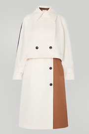 Tibi Convertible color-block twill trench coat