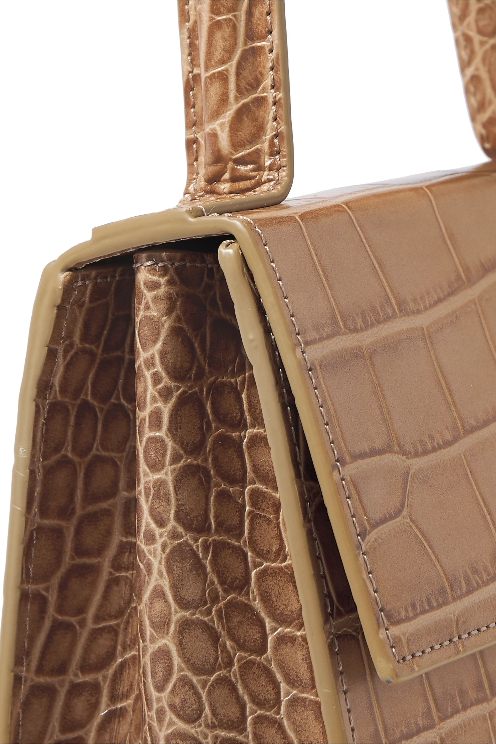 BY FAR Monet croc-effect leather tote