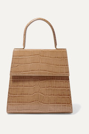 Monet croc-effect leather tote