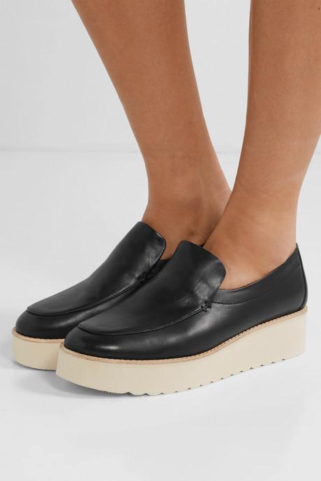 Zeta leather platform loafers