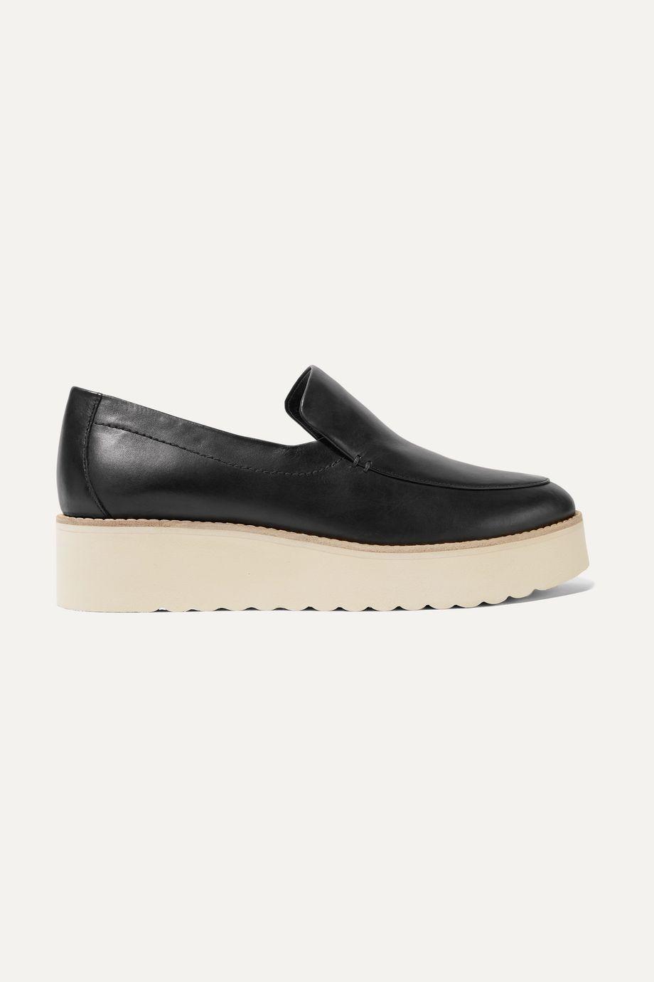 Vince Zeta leather platform loafers