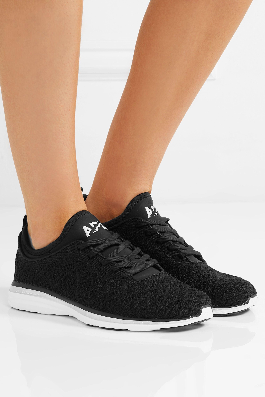 Black TechLoom Phantom 3D mesh sneakers