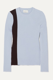 3.1 Phillip Lim Striped ribbed stretch wool-blend sweater