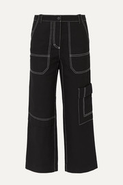3.1 Phillip Lim Cropped straight-leg cotton and wool-blend drill pants