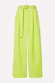 Sies Marjan Blanche belted pleated twill wide-leg pants