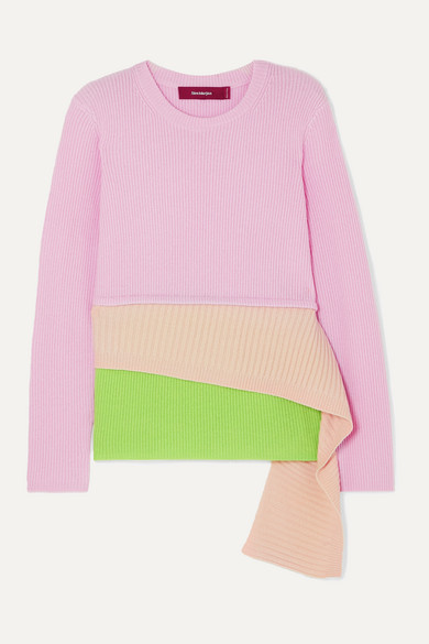 Sies Marjan Knits Sae layered ribbed wool and cashmere-blend sweater