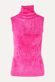Saya ribbed chenille turtleneck sweater