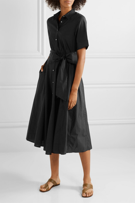 Redbury cotton-poplin midi dress