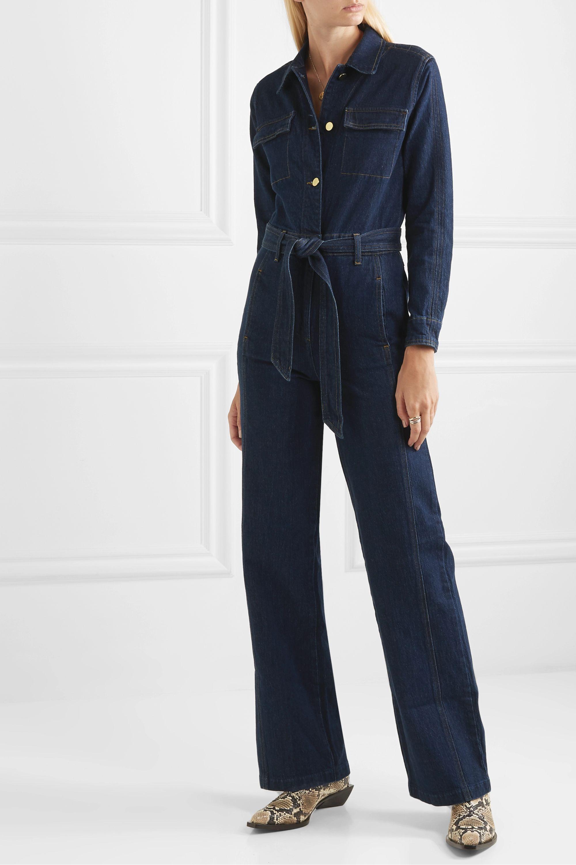 FRAME Vintage belted denim jumpsuit