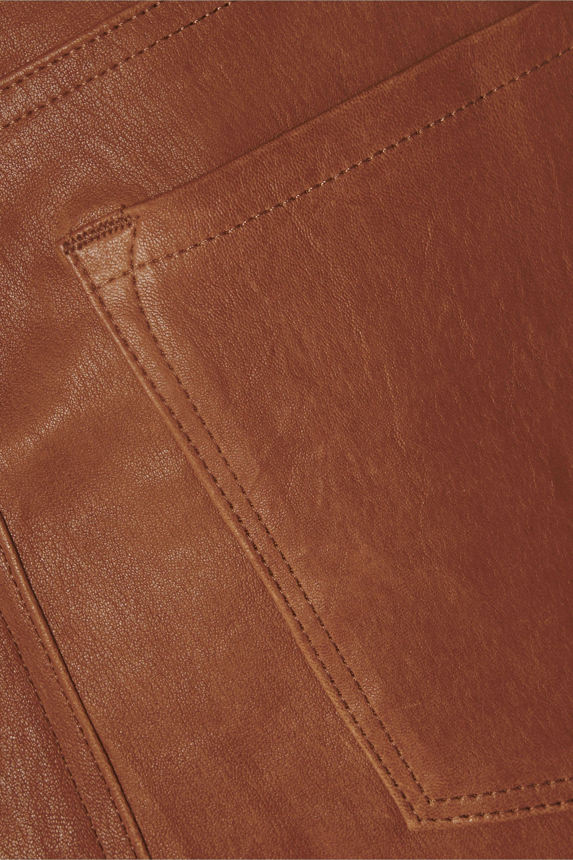 FRAME Le Crop Mini Boot leather pants