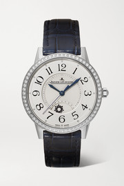 Rendez-Vous Night & Day 34mm medium stainless steel, alligator and diamond watch