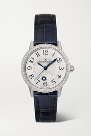 Rendez-Vous Night & Day 29mm small stainless steel, alligator and diamond watch