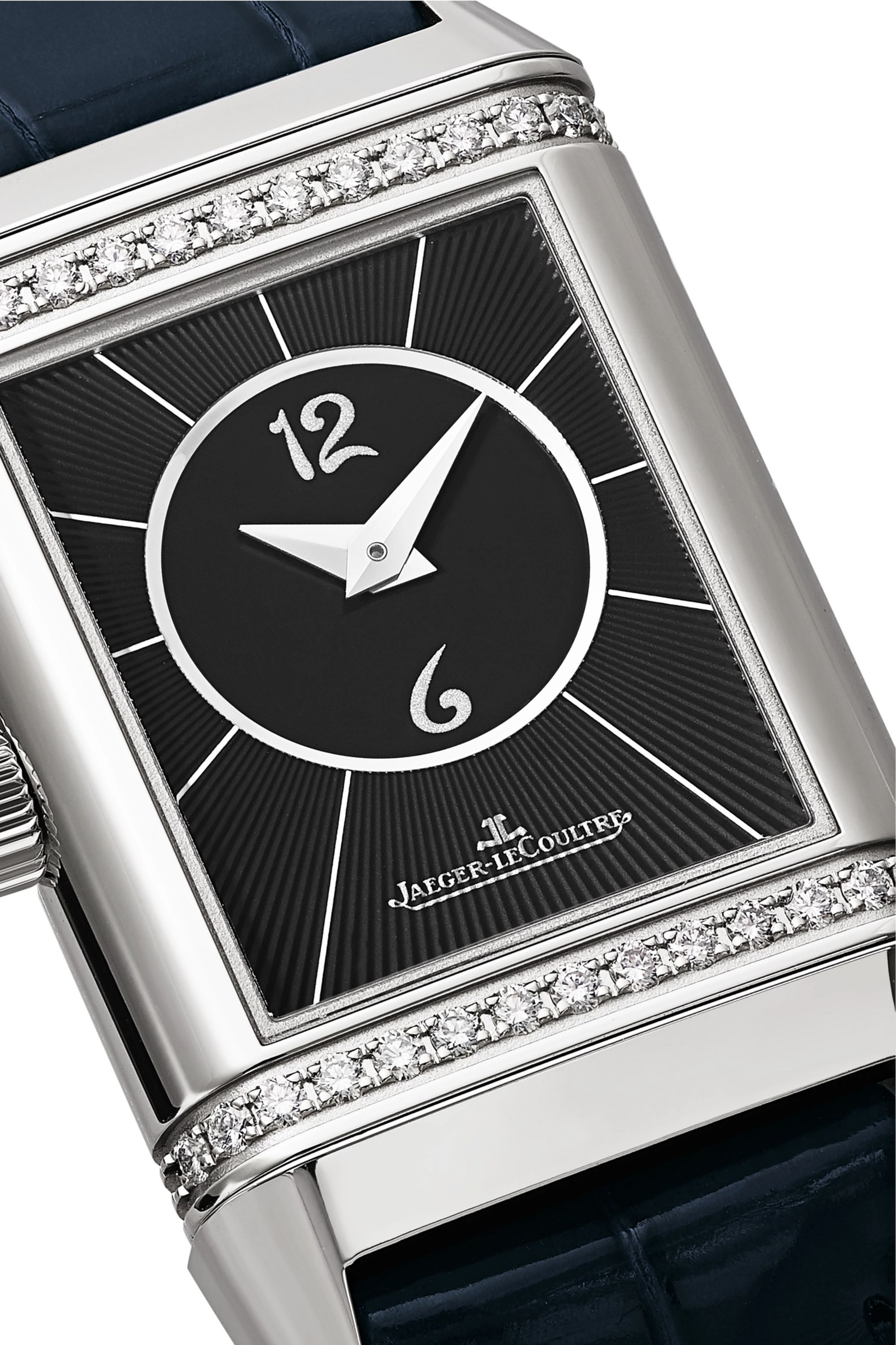 Jaeger-LeCoultre Reverso Classic Duetto 21mm small stainless steel, alligator and diamond watch