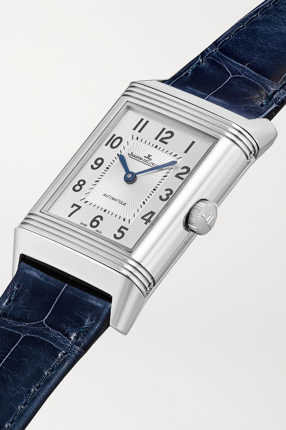 Jaeger-LeCoultre Reverso Classic Duetto 24.4mm medium stainless steel, alligator and diamond watch