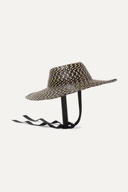 Gigi Burris Aloha cotton-trimmed straw hat