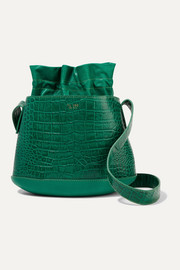 TL-180 La Marcello croc-effect leather bucket bag