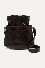 TL-180 Marcello croc-effect leather bucket bag