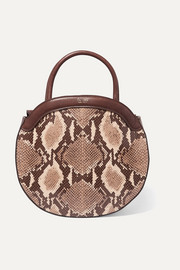 TL-180 Le Panier snake-effect leather tote