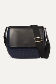TL-180 Le Panier Penelope woven leather shoulder bag
