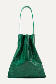 TL-180 Fazzoletto croc-effect leather shoulder bag
