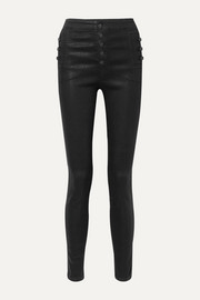 Natasha coated high-rise skinny jeans