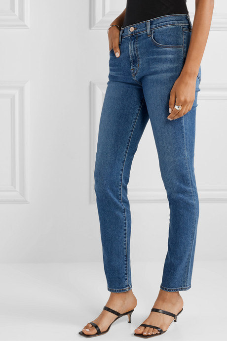 Ruby high-rise slim-leg jeans