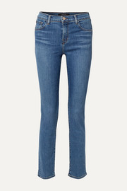 Ruby high-rise slim-leg jeans