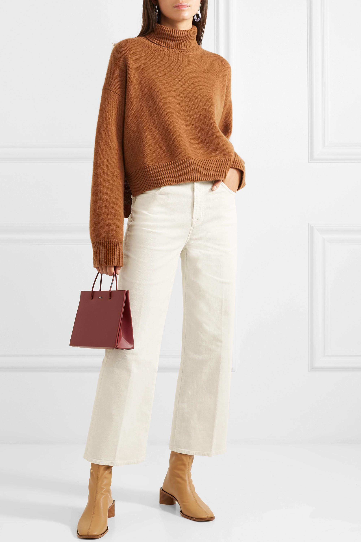 J Brand Joan cropped cotton-blend corduroy wide-leg pants
