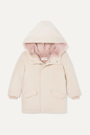 Yves Salomon Kids Ages 4 - 6 faux shearling-lined merino wool and cashmere-blend parka