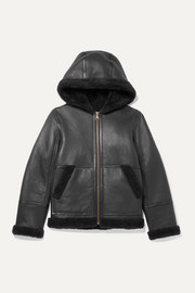 Yves Salomon Kids Age 12 hooded shearling jacket