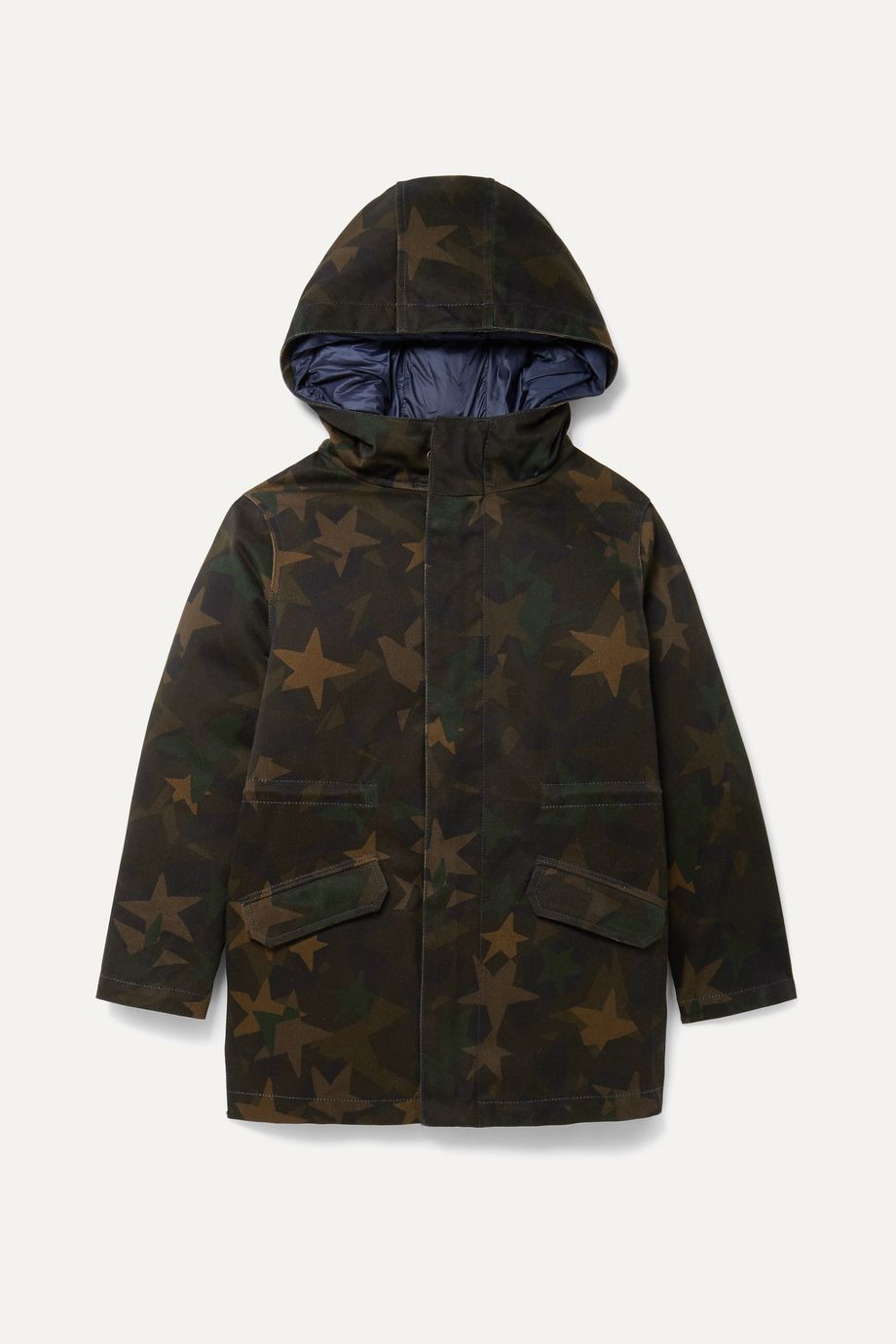Yves Salomon Kids Ages 8 - 10 layered cotton-blend and quilted shell down parka