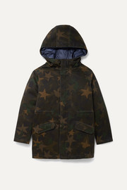 Ages 8 - 10 layered cotton-blend and quilted shell down parka