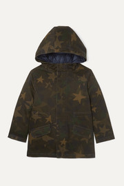 Yves Salomon Kids Ages 4 - 6 layered cotton-blend and quilted shell down parka