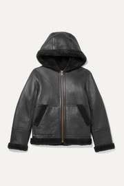 Yves Salomon Kids Ages 8-10 hooded shearling jacket