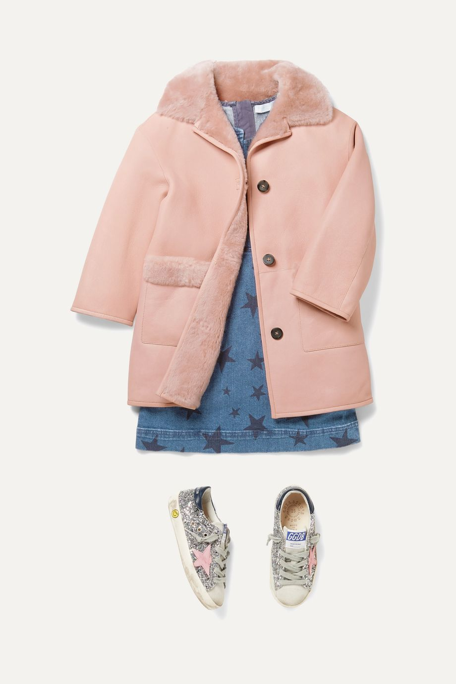 Yves Salomon Kids Ages 4 - 6 shearling coat
